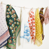 exchangediary: multicolored handkerchiefs hanging on a clothesline (Misc: Scarves)