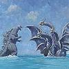 goo: Godzilla and Ghidorah. (Default)