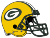 kate: a football helmet with the Green Bay Packer logo on it (Packers)