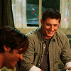 lilyleia78: Dean and Sam opening Christmas presents in a motel (Supernatural: Dean and Sam Christmas)