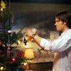 lilyleia78: Sam Winchester decorating a Christmas tree (Supernatural: Sam Christmas)