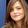 ashpags: Close-up of Jenna Louise Coleman standing in front of the TARDIS. (jenna louise coleman)