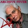 "alixtii: Jaques Derrida and the AO3 \o/ logo. Text: ""Archive Fever."" (Archive Fever)"