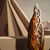 burning_ground: Too Soon For Thunder (detail), by Surrealist painter Kay Sage (abstract self)
