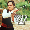 "grlnamedlucifer: Merlin's Gwen swordfighting, captioned ""fights like a girl"" ([merlin] the once and future queen)"