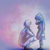 kitefullofkoi: picture of teen Allen comforting young Allen from D,Gray Man (dgm: allen)