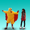 colorlesswords: Alex and Harper in chicken suit ([WoWP] Alex Harper)