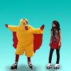 colorlesswords: Alex and Harper in chicken suit ([WoWP] Alex Harper)