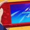 kitefullofkoi: cropped image of the loading screen of Riko's PSP from Kuroko no Basuke (knb: psp loading)