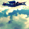 kitefullofkoi: picture of a girl laying on the ground which looks like clouds (cloud ground)