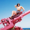 maia_bob: Me posing on a pink canon (Pink Canon)