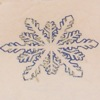 piglet: closeup of blue glitter snowflake on white t-shirt: Torrid tanktop (snowflake)