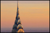 piglet: tip of Chrysler building silhouetted against the sunset (Chrysler)