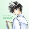 cashew: Kamui holding a bunch of books (X // even heroes read)