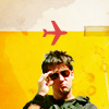 lou: john sheppard, sunglasses and a plane above (SGA flyboy)