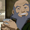 yasaman: Uncle Iroh from Avatar the Last Airbender animated series smiling with a tea cup in his hand (Iroh with tea)