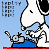 mzlizzy: Snoopy typing