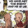 elf: We have met the enemy and he is us. (Met the enemy)