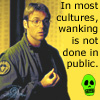 campylobacter: In most cultures, wanking is not done in public. (wank)