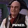 sporky_rat: Londo, looking smug.  Text: 'PWNED'. (londo pwned)