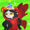 timelymaid: art by <user name=madammonkey site=tumblr.com> (= party hat activate!)