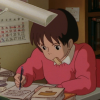 sophronia_chaos: Shizuku hard at work (whisper of the heart, novel, Shizuku, writing, original fic)