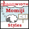momijizukamori: A sleeping dreamsheep with a '<3' sign. It says 'Momiji' above it, and 'Styles' below it. (dreamsheep volunteer)