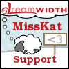 misskat: Dreamsheep in the snow, says MissKat and Support in red (Wintersheep)