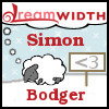 "swaldman: A cute fluffy sheep curled up dreaming of Dreamwidth. Labelled ""Simon: Bodger"". (dw-dev)"