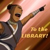 "owlectomy: Sokka from Avatar: The Last Airbender saying, ""To the library!"" (sokka library)"