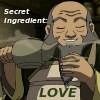 "owlectomy: Uncle Iro holding a teapot. ""The secret ingredient is love."" (uncle_iro tea love)"