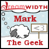 "mark: A dreamsheep with ""Mark, the Geek"" text. (dreamsheep)"