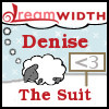 denise: Dreamsheep labeled 'denise' and 'the suit' with a '<3' signpost (the suit dreamsheep 2)