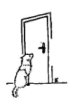 1assie: dog before a door (Default)