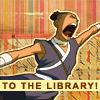 laurelin: (Sokka - To the library!)