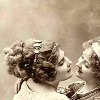 jesse_the_k: Vintage photo of two well-nourished white women in a close embrace (Lesbian vintage hug)