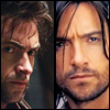 highlander_ii: Hugh Jackman as Wolverine on the left, Van Helsing on the right ([multi-pup] Michael and Logan)