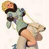 applespice: it is a girl riding a polar bear ([pinup] polar bear wrangler)