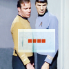 mirroreuler: Kirk and Spock from TOS standing closely together (Slash1)