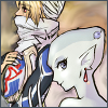 stealth_noodle: The smudge tool and I made a vaguely shippy Ruto/Sheik icon. (ruto/sheik)