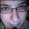 deborah: self-portrait with headset (me)