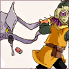 stealth_noodle: Lucca from Chrono Trigger, running and spilling items from her bag. (lucca running)