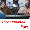 """everysecondtuesday: An icon of B.A. and Murdock passing with fake passports that reads """"accomplished liars"""" (a-team: accomplished liars)"""