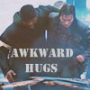 "everysecondtuesday: Murdock helping support B.A.  Text reads, ""Awkward hugs."" (a-team: awkward hugs, awkward hugs)"