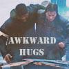 """everysecondtuesday: Murdock helping support B.A.  Text reads, """"Awkward hugs."""" (a-team: awkward hugs)"""