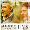 "juniperphoenix: Methos and Joe with text: ""Just two guys"" (HL: Roadshow)"