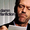 "strix_alba: Hugh Laurie scowling at a piece of paper, captioned ""damn fanfiction"" (damn fanfic)"