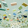 wishfulclicking: books flying with pale blue background (books: flying)
