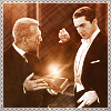 "jordannamorgan: Edward Van Sloan and Bela Lugosi as Van Helsing and Dracula, ""Dracula"". (Helsing Box)"