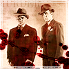 "jordannamorgan: James Cagney as Eddie Bartlett and Humphrey Bogart as George Hally, ""The Roaring Twenties"". (Gangsters)"